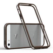 Bumper für Apple iPhone SE / 5 / 5S Case Wallet Schutz Hülle Cover Braun