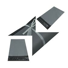 More details for uk strong grey coloured plastic mailing post poly postage bags self seal promax.