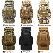 New Military Backpack Adjustable Strap Tactical Camping Hiking Travel Bag 80L