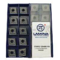 10pcs CNMG120408-NN CNMG 432 -NN Carbide inserts cnc lathe tool CNMG120408 NN