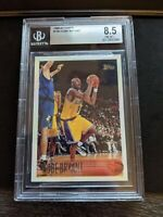 1996-97 TOPPS KOBE BRYANT ROOKIE RC #138 BGS 8.5 MINT LAKERS HOF FRESH SLAB