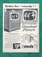 1952 Vintage Magazine Televison Ad ~ Motorola Console w/ Sabre Jet Tuner!