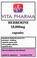 HIGH STRENGTH BERBERINE 10,000mg 60 capsules BLOOD SUGAR IMMUNE SYSTEM