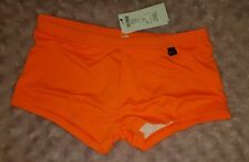 HOM Marine Chic Swimming Boxer Briefs BNWT Medium 34 inch Orange