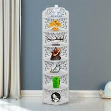 7 Tier Corner Shelf Storage Shelves Organizer Display Rack for Kitchen Bedroom