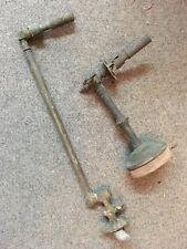 lot de 2 appliques à bec de gaz dont 1 bras articulé éclairage du 19ème siècle