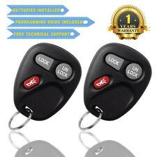 2 For GMC Sierra 1500 2500 3500 -1999 2000 2001 Remote Car Keyless Entry Key Fob