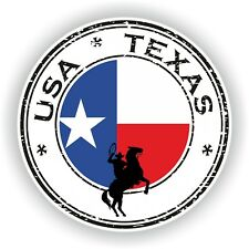 USA Texas Cowboy Stamp Seal Sticker Decal for Car Laptop Tablet Fridge #02