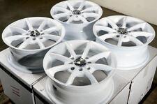 """14"""" 4x100 4x114.3 White Wheels Fit Kia Rio Spectra Miata Cooper Altima Cube Rims"""