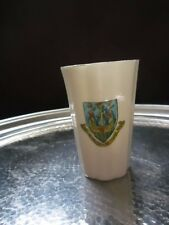 """LOVEY ARCADIAN CRESTED CHINA """"WEYMOUTH AND WESCOMBE REGIS"""" MOTTO BEAKER"""