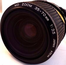 MINOLTA MD 35-70MM  F/3.5 CONSTANT APERTURE  ZOOM LENS INC FILTER.