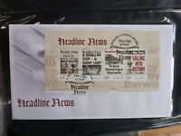 AUSTRALIA 2013 HEADLINE NEWS 4 STAMP MINI SHEET FDC FIRST DAY COVER