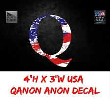 Q QANON ANON USA, AMERICAN FLAG WINDOW DECAL, LAPTOP STICKER TRUMP STORM, USDM