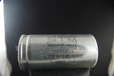 One NOS STM Computer Grade 6000 uF 85 Vdc Electrolytic Capacitor