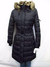 S13/NYC Women's L Lexington Faux‑Fur‑Trim Belted Puffer Jacket MSRP $300 H243 L