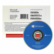 Full Version Windows 7 Pro Professional SP1 X64 Bit DVD and Product Key - Sealed