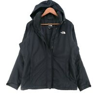 The North Face Schwarz mit Kapuze Hyvent Wasserfest Jacke Größe L