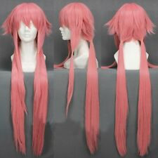 Anime The Future Diary Yuno Gasai Pink Long Wig Cosplay Hair Mirai Nikki Wigs