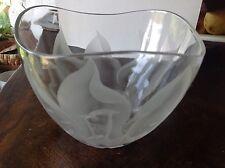 FRANZ GROSZ Vintage Elegant Art Glass Etched vase