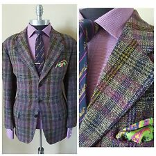 $1695 Nwt Missoni Uomo Bergdorf Goodman Vintage Purple Plaid Jacket Blazer 42 52