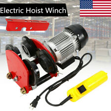 Electric Wire Rope Hoist With Trolley L Beam Links 2200lbs 4ft Cable Length 500w