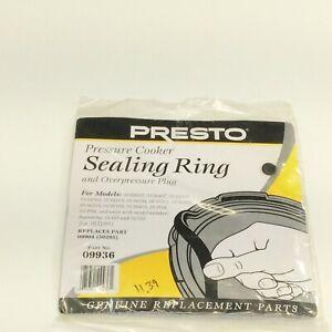 Presto #09936 Sealing Ring Overpressure Plug Pack for 4 & 6 Qt Pressure Cooker