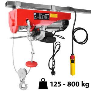 Treuil électrique 125 - 800 kg avec câble en acier et boîtier de commande