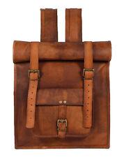 Leder Rucksack Backpack 17 Zoll Laptop Schulrucksack Schultasche Schulranzen