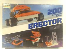 Vintage 1981 Gabriel Erector Construction System 200 gm626