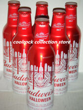 lot of 6 China 2017 Budweiser beer HALLOWEEN aluminium bottles 355ml empty