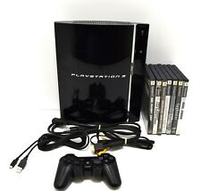 Sony PlayStation 3 PS3 60GB  Backwards Compatible CECH-A01 w/7 PS2 Games