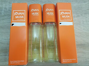 2x Jovan Musk EDT for Women 100ml, Jovan Musk for Her Eau De Toilette Spray