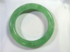 "40mm NATURAL Green Jade Infant Newborn BABY Bangle Bracelet 1-9/16"" #B130"