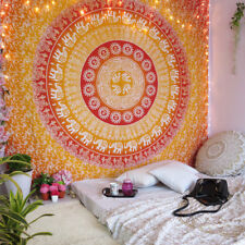 Elephant Mandala Queen Tapestry Wall Hanging Indian Sun Hippie Ethnic Gypsy Deco