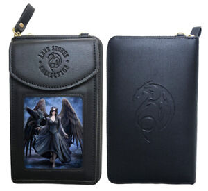 Stunning Anne Stokes 3D Purse and Phone Holder - Raven - Gothic Angel