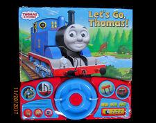 NEW Thomas Tank Engine LET'S GO THOMAS Book INTERACTIVE Steering WHEEL Sounds