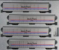 KATO 1065508 N Autorack Auto Train Amtrak Phase III 4 Car Set #2 106-5508 - NEW