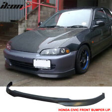 Fits 92-95 Civic 2Dr 3Dr T-R Urethane Front Bumper Lip Spoiler Bodykit 92