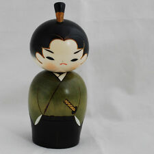 Japanese Kokeshi Doll - Authentic - Handmade in Japan - Waka samurai / Warrior