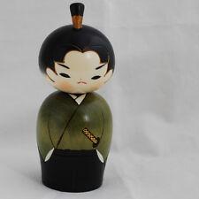 Japonais Kokeshi DOLL-authentique-fait main au Japon-Guerrier Samouraï / waka
