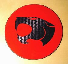 RED TAX DISC & PARKING PERMIT HOLDER MAGNETIC - Thundercats Carbon Fiber Effect
