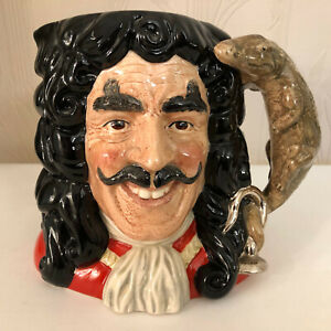 Royal Doulton D6947 Captain Hook Large Size Character Jug Of The Year