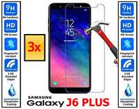 3x Genuine 100% TEMPERED GLASS HD Screen Protector Samsung Galaxy J6 PLUS J6+