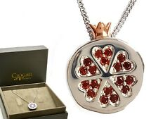 Clogau Silver & 9ct Rose Welsh Gold Catalina Crown Pendant Necklace