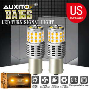 AUXITO 1156 BA15S Amber Yellow SMD 42 LED Turn Signal Indicator Side Light Bulbs
