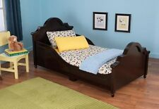 Kidkraft 86943 Kids Raleigh Toddler Bed w/Side Safety Rails Espresso Dark Brown