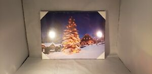 LED Light up Christmas Canvas Painting NEW Sealed