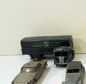 voiture ancienne Dinky toys - 32 AB TRACTEUR PANHARD SEMI-REMORQUE SNCF