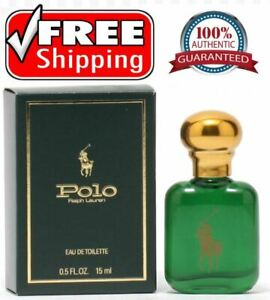 100% Original Authentic Polo Green Cologne by Ralph Lauren 0.5 oz/15 ml EDT