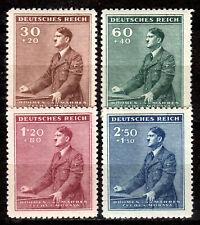 Germany / Bohmen und Mahren - 1942 Birthday Hitler Mi. 85-88 MH